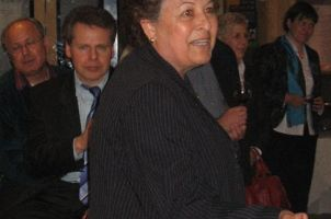 Reception during the German-Israeli Symposium, in the front: Prof. Varda Rotter