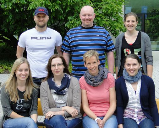 Experimental Hematology Group, May 2015. Clockwise from back left: Paul Kaschutnig, Mick Milsom, Stella Paffenholz, Ruzhica Bogeska, Julia Mässen, Amelie Lier and Franziska Pilz.