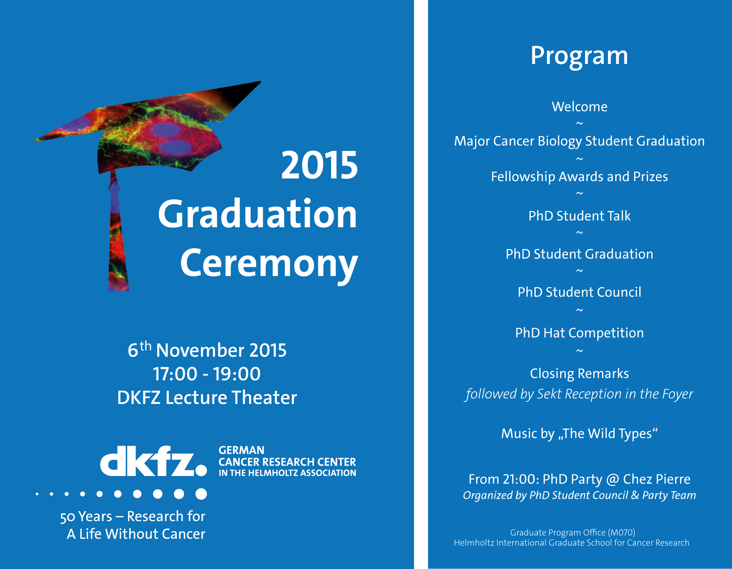 Graduation Ceremony Reception: Deutsches Krebsforschungszentrum