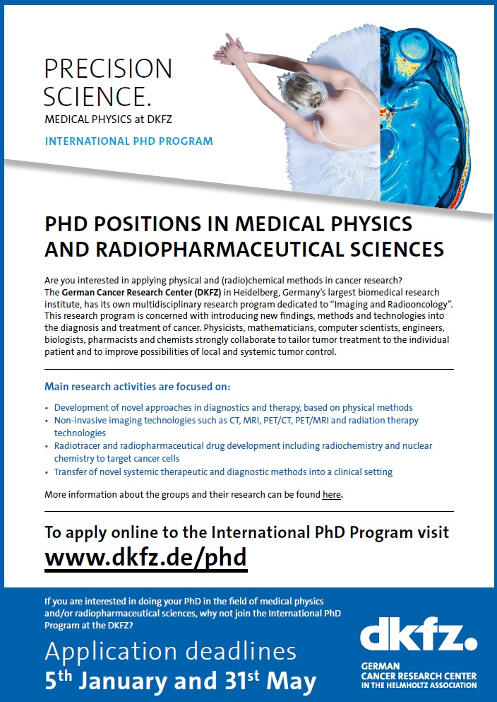 Research Groups in the Department of Medical Physics in